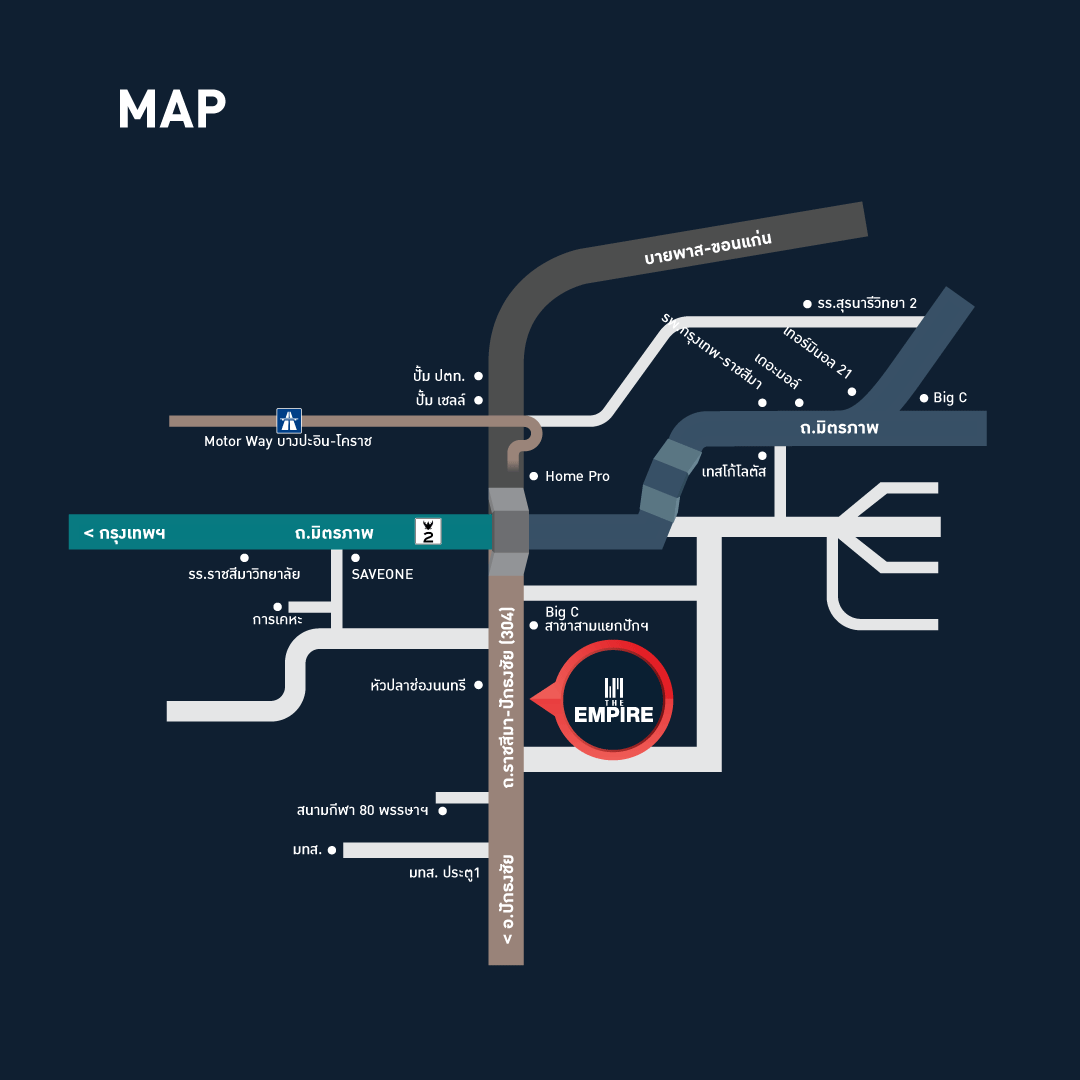The Empire Townhome | Graphic Map